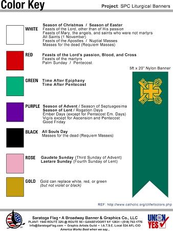 Catholic Church Burgee Liturgical Flag Banner