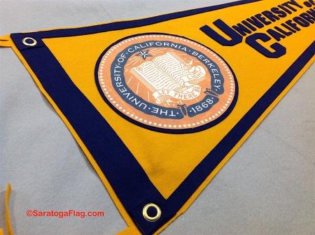 University of California Berkeley- Custom FELT PENNANT