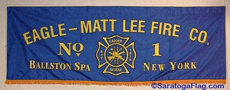 Custom Fire Dept Parade Banner Applique Stitched