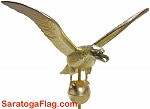 Finial: Eagle Ornament (48 inch)  for Outdoor Flagpole GOLD LEAF