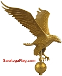 Finial: Eagle Ornament (12 inch)  for Outdoor Flagpole