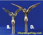 FINIAL: -Flying - Metal- for Indoor Poles