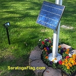 Solar Light for Flagpoles-Commerical Grade LED-420 Lux