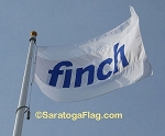 ..Custom APPLIQUE Stitch Nylon Flag- Simple
