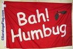 Holiday Flag- Bah Humbug