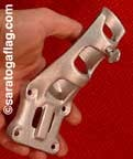 BRACKET- Cast Aluminum - 45 degree Angle for 1 inch diameter pole