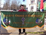 ...Custom PARADE BANNER- Ancient Order of Hibernians-Celtic Cross-PRINTED NYLON