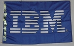 .IBM Flag- Custom APPLIQUE Stitched Nylon