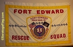.FORT EDWARD RESCUE SQUAD- PARADE BANNER Applique Stitch