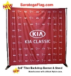 ..Custom BACKDROP BANNER KIT: 8ft x 8ft Fabric