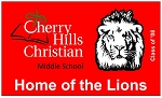 .CHERRY HILLS CHRISTIAN MIDDLE SCHOOL- Custom FELT BANNER