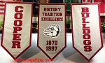 .COOPER SCHOOL DISTRICT- Custom FELT BANNERS