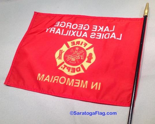 Custom STICK FLAG- 12x18 inch Handheld-