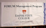 .EMPIRE STATE COLLEGE Forum Management Program- Vinyl Banner