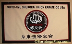 .SHITO-RYU SHUKOKAI UNION KARATE-DO- Custom FELT BANNER