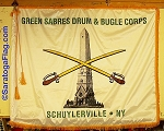 .GREEN SABRES DRUM & BUGLE CORPS- Flag