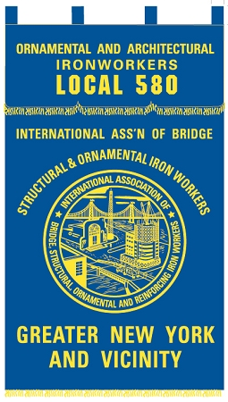 IRON WORKERS UNION- Custom EMBROIDERED BANNER
