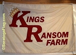 .KINGS RANSOM FARM Flag- Custom APPLIQUE Stitched Nylon