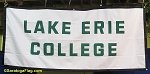 .LAKE ERIE COLLEGE-  BANNER- Applique Stitched Nylon