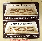 SHELTERS OF SARATOGA- Custom MAGNETIC VEHICLE SIGNS