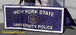 .NEW YORK STATE UNIVERSITY POLICE- TABLE COVER- Applique