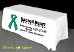 Custom TABLE COVER  - ORGAN DONOR - Green Ribbon