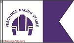 .PEACHTREE RACING STABLE - Custom Flag