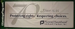 .PLANNED PARENTHOOD- VINYL BANNERS - Numerous Sizes