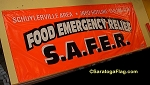 .FOOD EMERGENCY RELIEF Vinyl Banner