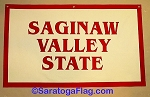 .SAGINAW VALLEY STATE- Custom FELT BANNERS