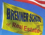 .BRENNER SCHOOL of REAL ESTATE- NYLON FLAGS- 3x5ft -SCREEN PRINT