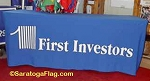 .FIRST INVESTORS-Custom TABLE COVER Banners - Digital Print