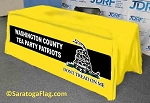 Custom TABLE COVER  - Tea Party - Gadsden - Dont Tread on Me