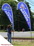 .Custom - Teardrop Style Outdoor Event Banner: 8ft, 10ft