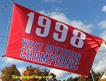 1998 West Division Champions - MLB Flag 5x8ft