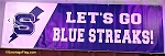 .SARATOGA SPRINGS HIGH SCHOOL Blue Streaks- Vinyl Banner