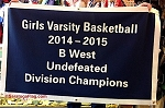 .GIRLS VARSITY BASKETBALL Champions- Custom FELT BANNERS
