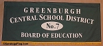 .GREENBURGH CENTRAL SCHOOL 7- Custom FELT BANNER