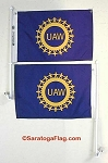 .UAW- Custom NYLON FLAGS- 12x18 inch Digital Print