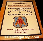 .UNITED BROTHERHOOD of CARPENTERS- Felt Banners