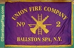 ..Custom FIRE DEPT- APPLIQUE Stitched Flag