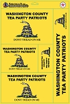 Custom DECALS- TEA PARTY 11x17 inch SHEET - 5 stickers