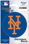 New York METS- DECAL- Round 3 inch diameter