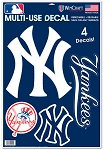 NYY- DECAL SHEET 11x17 inch
