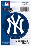NYY- DECAL- Round 3 inch diameter
