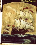 Painting- Backdrop - Pirate Ship Scrim - Peter Pan