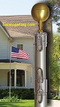 FLAGPOLE: Telescoping USA Kit -Aluminum
