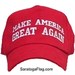 ...TRUMP BALLCAP: MAKE AMERICAN GREAT AGAIN- Red