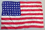 48 Star USA Flag- 12x18inch Rayon- Authentic - Vintage-SOLD