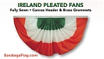 Bunting-Pleated Fans- ITALY- All Sizes-Nylon